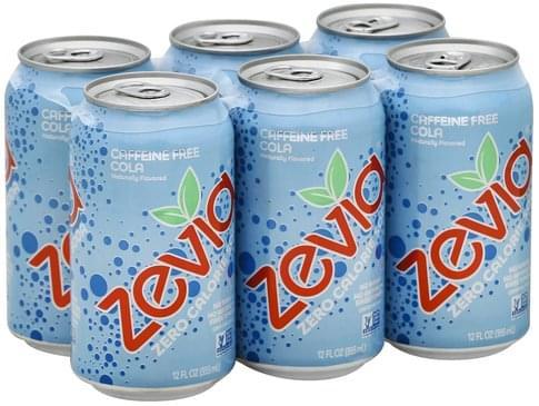 Zevia Zero Calorie, Cola, Caffeine Free Soda - 6 ea