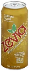 Zevia Soda Zero Calorie, Cream Soda, Caffeine Free