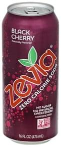 Zevia Soda Zero Calorie, Black Cherry, Caffeine Free
