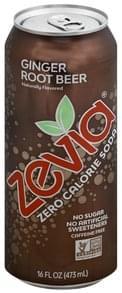 Zevia Soda Zero Calorie, Ginger Root Beer, Caffeine Free