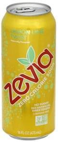 Zevia Soda Zero Calorie, Lemon Lime Twist, Caffeine Free