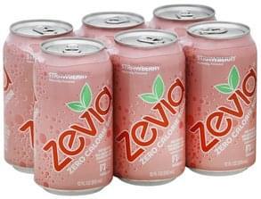 Zevia Soda Zero Calorie, Strawberry, Caffeine Free