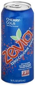 Zevia Soda Zero Calorie, Cherry Coke