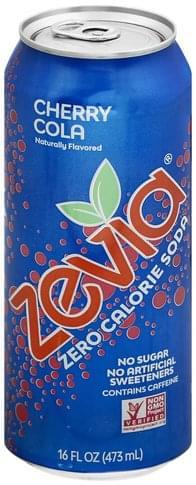 Zevia Zero Calorie, Cherry Coke Soda - 16 oz