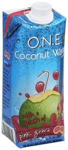 O.N.E. Coconut Water Beverage with a Splash of Pink Guava