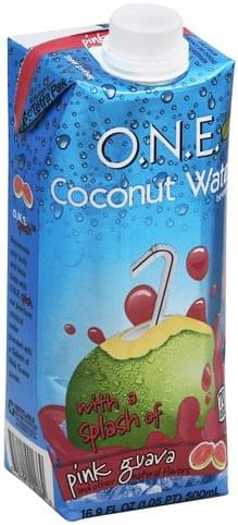 O.N.E. with a Splash of Pink Guava Coconut Water Beverage - 16.9 oz