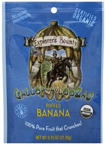 Explorers Bounty Puffed Banana - 0.75 oz