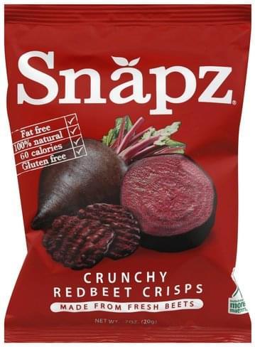 Snapz Crunchy Redbeet Crisps - 0.7 oz
