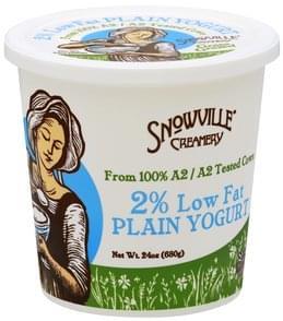 Snowville Creamery Yogurt 2% Low Fat, Plain