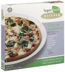 Super Foods Rx Pizza Turkey and Spinach