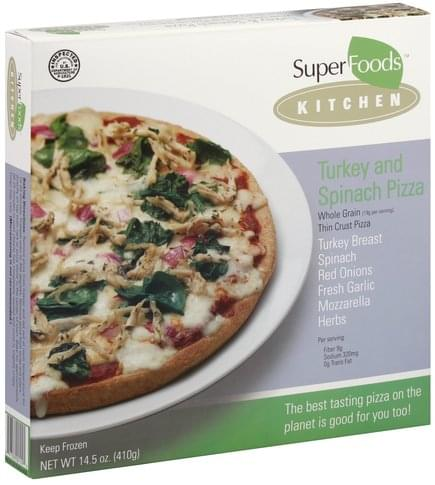 Super Foods Rx Turkey and Spinach Pizza - 14.5 oz