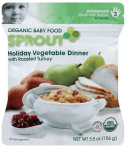 Sprout Baby Food Organic, Holiday Vegetable Dinner, 8+ Months, Stage 3 Advanced