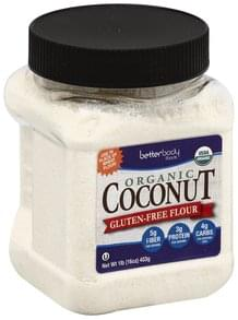 BetterBody Foods Coconut Flour Gluten-Free, Organic