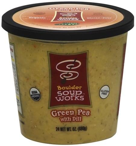 Boulder Soup Works Green Pea with Dill Soup - 24 oz