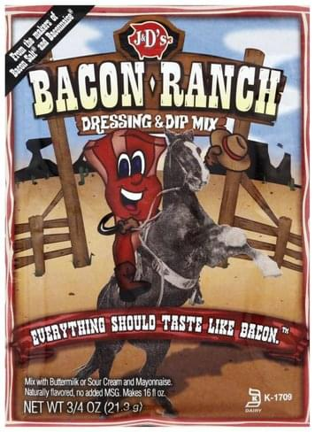 J & Ds Bacon-Ranch Dressing & Dip Mix - 0 75 oz, Nutrition