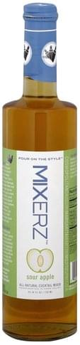 Mixerz Sour Apple All-Natural Cocktail Mixer - 25.36 oz