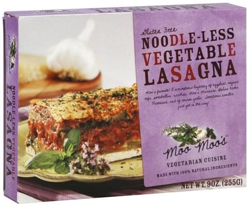 Moo Moos Noodle-Less, Vegetable Lasagna - 9 oz