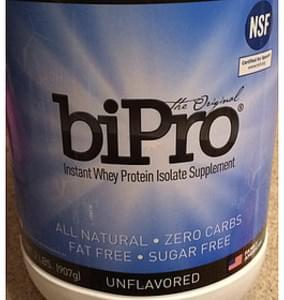 BiPro Whey Protein Isolate Supplement Unflavored