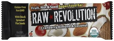 Raw Revolution Fruit, Nut & Seed, Cranberry Almond & Coconut Super Food Bar - 1.6 oz
