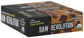 Raw Revolution Super Food Bar Fruit, Nut & Seed, Chunky Peanut Butter Chocolate