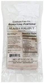 Cannon Fish Halibut Alaska, Fillet Portions