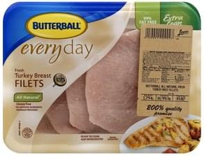 Butterball Turkey Breast Fresh, Extra Lean, Filets