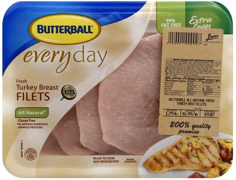 Butterball Fresh, Extra Lean, Filets Turkey Breast - 1 ea