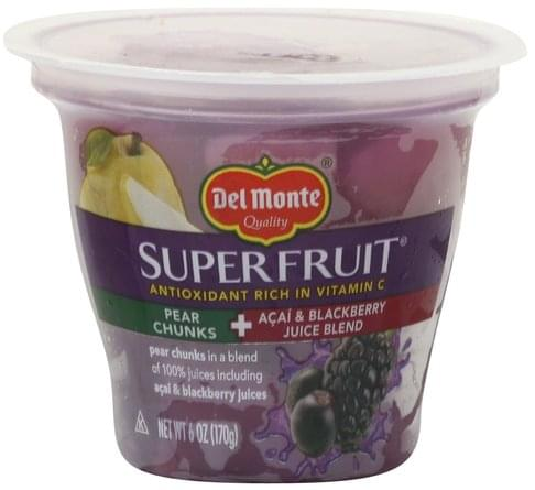 Del Monte Pear Chunks + Acai & Blackberry Juice Blend - 6 oz