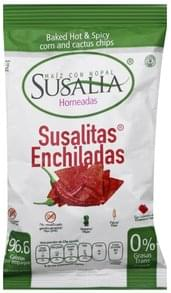 Susalia Chips Corn and Cactus, Baked, Hot & Spicy, Enchiladas