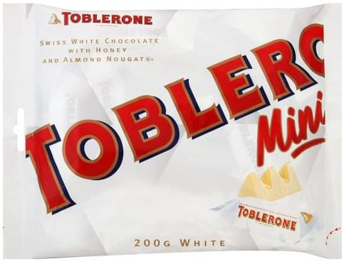 Toblerone Swiss With Honey And Almond Nougat White