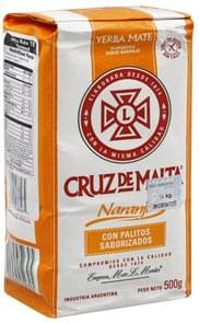 Cruz De Malta Yerba Mate Tea Flavored