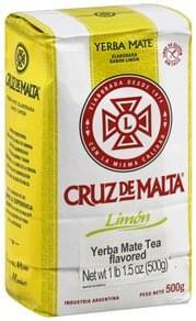 Cruz De Malta Yerba Mate Tea Limon