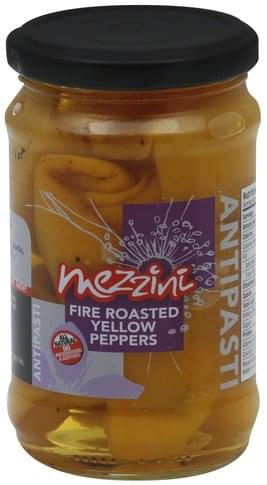 Mezzini Fire Roasted Yellow Peppers - 10.4 oz