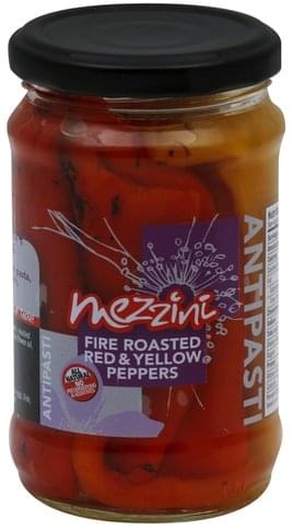 Mezzini Fire Roasted Red & Yellow Peppers - 10.4 oz