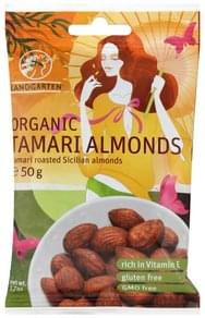 Eden Dry Roasted Tamari Almonds - 4 oz, Nutrition