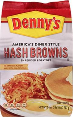 Dennys America's Diner Style Hash Browns Shredded Potatoes America's Diner Style Hash Browns