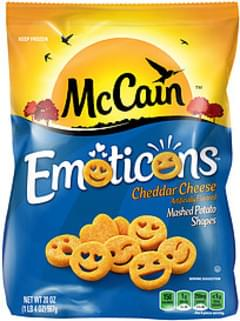 McCain McCain Emoticons Cheddar Cheese Mashed Potato Shapes Cheddar Cheese