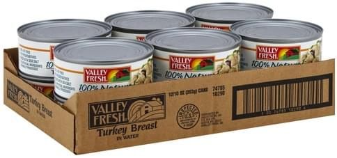 Valley Fresh in Water Turkey Breast - 10 ea