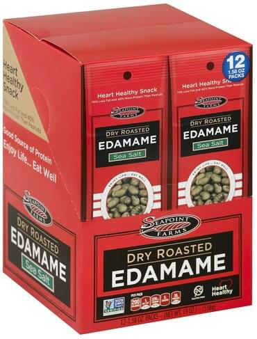 Seapoint Farms Dry Roasted, Sea Salt Edamame - 12 ea