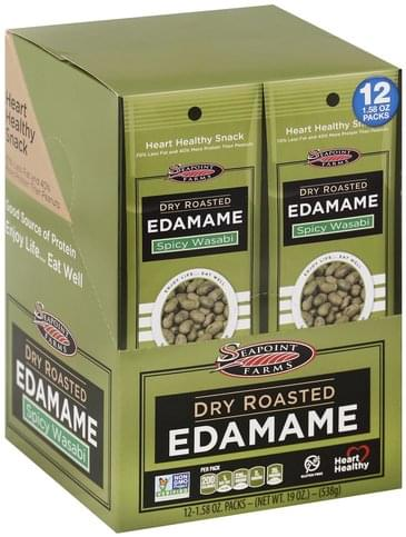 Seapoint Farms Dry Roasted, Spicy Wasabi Edamame - 12 ea